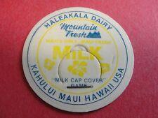 Vintage Milk Bottle Caps from Haleakala Dairy, Kahului Maui Hawaii, USA