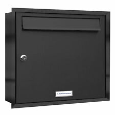 1er Premium Briefkasten Anthrazit RAL 7016 1 Fach Unterputz Anlage Postkasten