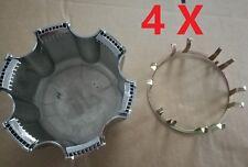 4X WHEEL CENTER HUBS CAPS CAP RETAINER CLIP MITSUBISHI PAJERO MONTERO SPORT