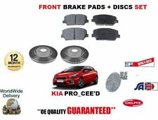 FOR KIA PRO CEED 1.4 2012-> NEW FRONT BRAKE DISCS VENTED 300MM + PADS KIT