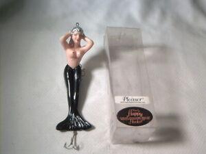Vintage old plastic fishing lure The Happy Hooker Pleasure Mermaid Black NIP