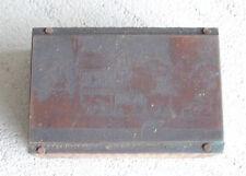 Vintage Wood Amp Metal Printers Block Big House Letterpress