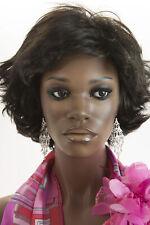 Darkest Brown Brunette Short Wavy Wigs