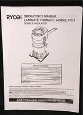 Ryobi Laminate Trimmer Operators Manual Instruction Booklet Model TR31 FREE SHIP