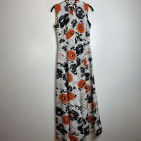 Vintage Dress Small 70s Or 80s Floral Maxi Dress Handmade Fit And Flare Sleevele