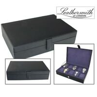 LEATHERSMITH OF LONDON® GENUINE BLACK LEATHER 10 WATCH STORAGE CASE BOX