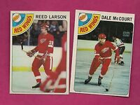 1978-79 TOPPS RED WINGS MCCOURT ROOKIE + LARSON ROOKIE NRMT CARD (INV#6277)