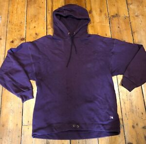 RUSSELL ATHLETIC MENS HOODIE, PURPLE, OVERSIZE - SIZE L