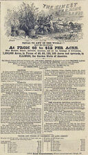 US Railway History Illinois Central Railroad Land for Sale 1863 Print Ad
