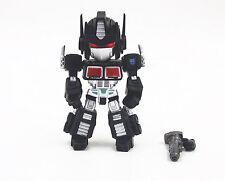 Transformers Black Convoy Optimus Prime Eyes Light  9cm Toy Figure Doll New