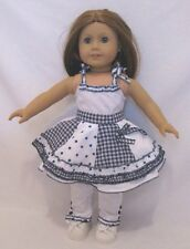 "Doll Clothes Navy And White Skirt Set Fits 18"" American Girl Dolls"