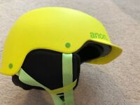 Anon Scout Youth Ski Snowboard Helmet Youth Large 53-55 Cm New Yellow Green