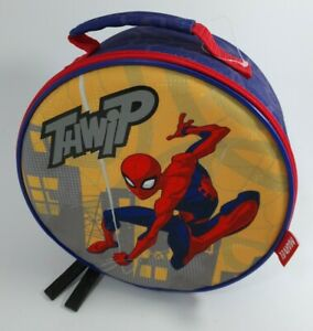 Disney Marvel Spiderman Zip Up Fabric Tallie Unique Lunch Box Never Used