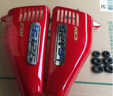 Set New Honda CG125  70`s side panels with badge in Red + Rubbers