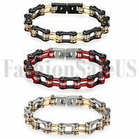 Men's Punk Heavy Stainless Steel Motorcycle Biker Chain Link Bracelet Jewelry