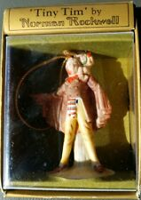 Vintage 1979 Tiny Tim By Norman Rockwell Hanging Figurine Ornament New in Box