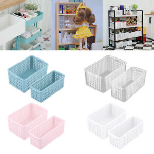1/12 Doll House Storage Baskets Tiny Living Room Decoration Birthday Gifts