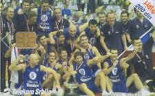 3705 SCHEDA PHONECARD USATA SERBIA BASKETBALL EUROPEAN CHAMPIONS