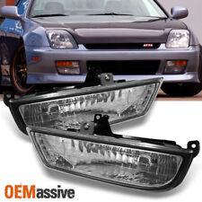 Fits 1997-2001 Prelude Clear Bumper Fog Lights Driving Lamp w/Bulbs+Switch+Bezel