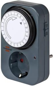 Brennenstuhl Zeitschaltuhr Mz 20, Mechanische Timer-Steckdose Tages-Zeitschaltu