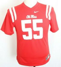 NEW Ole Miss Rebels Rare Official Nike Red Team Football Jersey Youth M