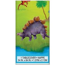 DINOSAUR JUNGLE PLASTIC TABLE COVER ~ Birthday Party Supplies Decorations Cloth