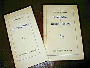 LOT 2 OUVRAGES SAMUEL BECKETT TETES-MORTES & COMEDIES 1967-70 EO THEATRE ABSURDE