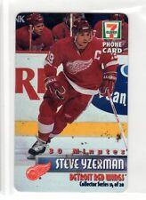 1X STEVE YZERMAN 1997 7-11 Phone Card NRMT+ Serial #'d 695/3000 Red Wings