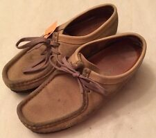 Clarks Wallabees Low Tan 35395 Womens 8.5 M