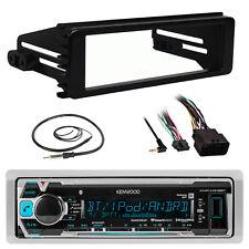 Bluetooth USB Kenwood 2017 Marine Radio, 98-13 Harley Radio DIN Kit, Antenna