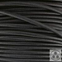 Textilkabel Stromkabel Schwarz 3 adrig 3 x 1,5 mm² rund Stoffkabel