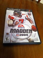 Play Station 2 Video game Playstation Ea Sports Madden 2004 Football Soccer OOP
