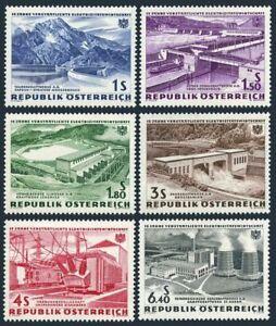 Austria 676-681,MNH/MLH 3s.Michel 1103-1008. Hydroelectric Power Plants,1962.