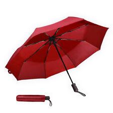 "8 Ribs 42"" Travel Automatic Umbrella Rain Windproof Auto Open Close 3 Folding US"