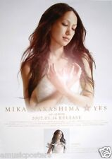 "MIKA NAKASHIMA ""YES"" HONG KONG PROMO POSTER-Japan Singer/Actress J-Pop Superstar"