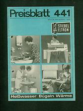 Alte Preisliste Stiebel Eltron 1968 Elektrogeräte Fotos Preise Beschreibungen