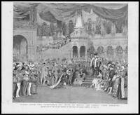 1888 Antique Print - LONDON Drury Lane Theatre Pantomime Puss in Boots  (126)