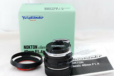 Voigtlander NOKTON Classic 40mm F1.4 MC VM Leica M mount manual Lens from Japan