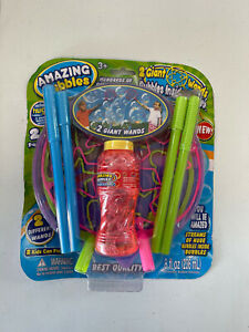Amazing Bubbles Giant Wands Bubble Kids Outdoor Toy New