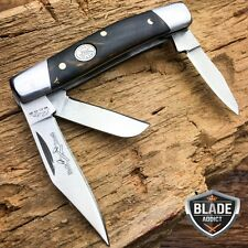 "2.75"" TRIO 3 BLADE STOCKMAN FOLDING POCKET KNIFE BLACK PEARL COLLECTIBLE"