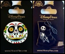Disney 2 Pin Lot NBC Jack Dia Muertos Mask + shoe NIGHTMARE BEFORE CHRISTMAS