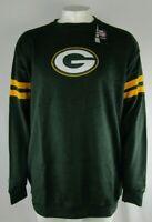 Green Bay Packers NFL Majestic Big & Tall Green LS Fleece Crew Sweatshirt XLT-5X
