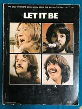 THE BEATLES LET IT BE SONGBOOK~NORTHERN SONGS 1970~ACROSS THE UNIVERSE~GET BACK