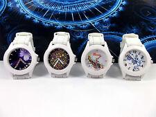 Ladies Watch Women Wristwatch Flower Dial Silicon Strap Adjustable UK