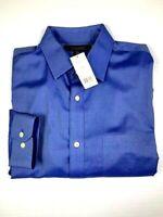 Mens BANANA REPUBLIC Dress Shirt Non Iron Classic Fit Size L Color Blue