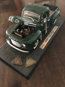 F-Series Ford 1948 F-1 Pick Up 1:18 Model By Road Legends & 2 Ford Rouge Tags