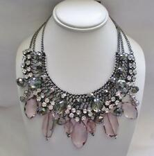 RSVP Fashion Collar Necklace Metallic Black with Crystals and More