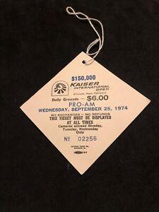 1974 Hang Tag Pass Golf Kaiser International Open Ticket (Johnny Miller Winner)