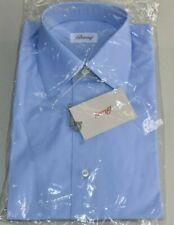 NEW Brioni Blue Dress Shirt LUXURIOUS Button Down Long Sleeve Cotton 15 38 L