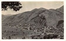 Rp Postcard Overview of Idaho Springs in Clear Creek Canon, Colorado~109667